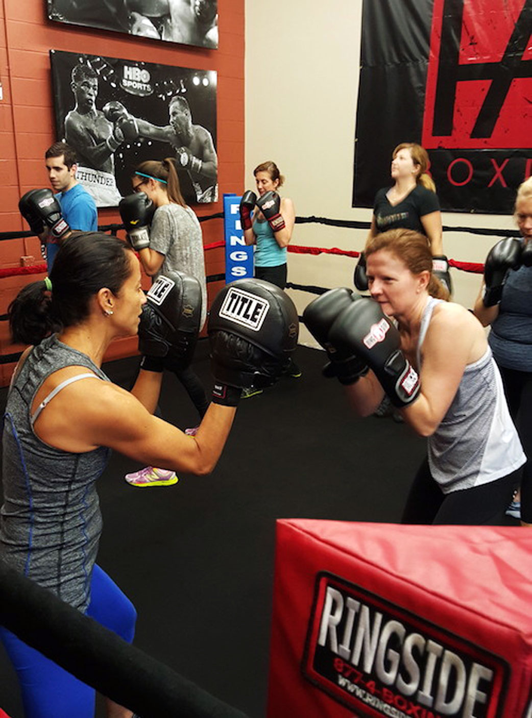 One-on-One fitness training programs with a personal trainer at a modern upscale boxing gym